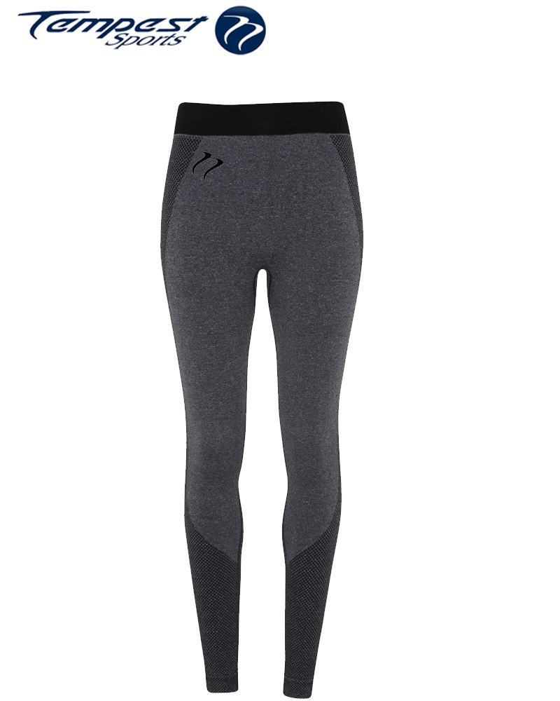 Tempest Women's performance Charcoal Seamless leggings